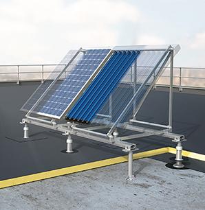 Système de structure support en toiture terrasse
